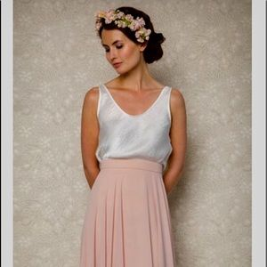 🌷Light pink pleated chiffon skirt